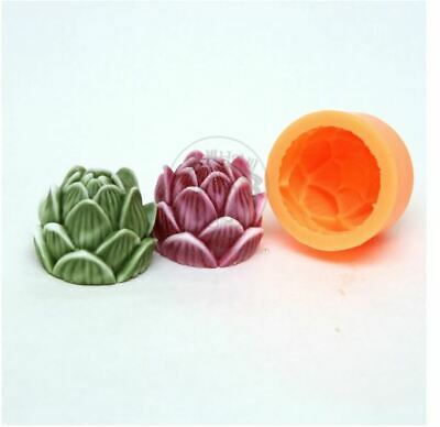 Silicone lotus Silicone soap Mould plaster Mold