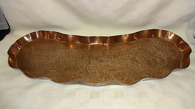 Stunning Arts & Crafts Kidney Shaped Copper Tray Henry Loveridge Rd 231620.1894