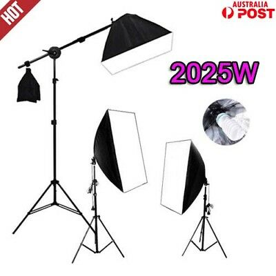 Photography Softbox Lighting 2025W Photo Video Soft Box + Boom Light Stand Kit