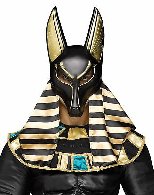 Mens Anubis Egyptian God Of Dead Mask Adults Halloween Party Wear Horror Mask