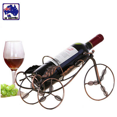 Tricycle-shaped Red Wine Rack Bottle Storage Holder Shelf Home Display HWIHA3291