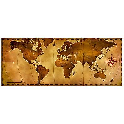 Old World Map Rustic Metal Wall Art Aged Antique Style Nautical Decor Travel Art