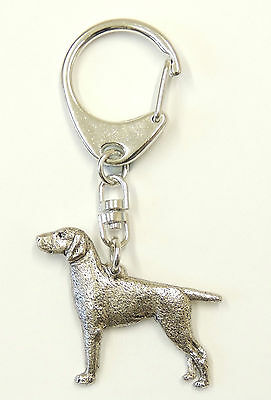 German Short Hair Pointer Silver Keyring