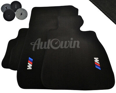 BMW Floor Mats E92 3 Series with /// M Logo Black Tailored Set Clips RHD UK NEW
