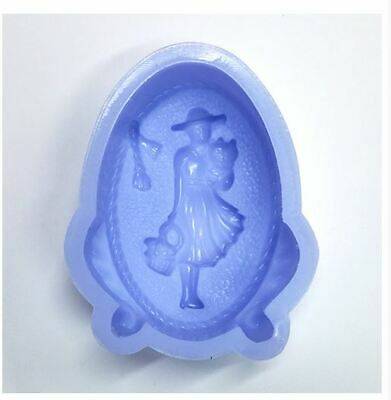 Single Outgoing Woman Silicone soap Mould plaster Mold