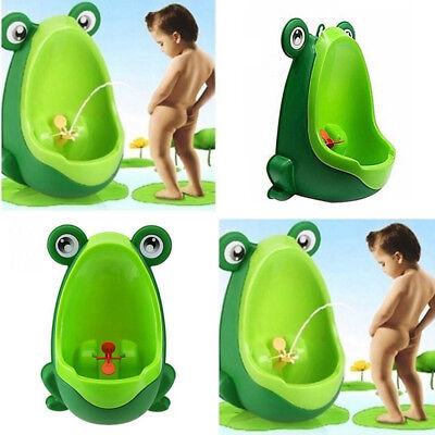 Frog Shaped Boys Baby Potty Toilet Training Urinal Kids Pee Trainer Green Colour