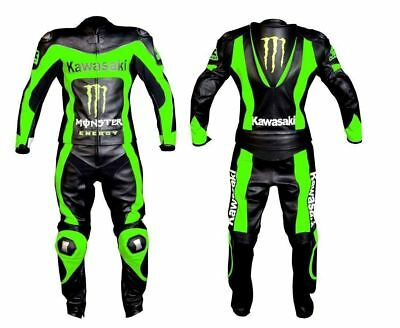 Motorcycle Leather Race Suit Motorbike Monster 2 Piece Custom Brands All Sizes