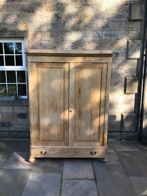 Large Antique Pine 'Knockdown' Wardrobe