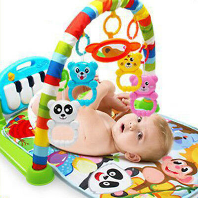 3 In 1 Baby Kid Playmat Play Musical Pedal Piano Activity Soft Fitness Gym Mats