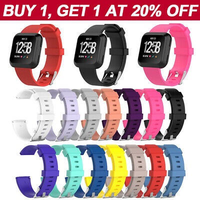 Fitbit Versa Band Secure Strap Replacement Silicone Wristband Fitness Tracker OZ
