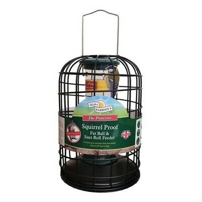 Harrisons SQUIRREL PROOF FAT BALL FEEDER Suet Roll Protector Guard Wild Bird