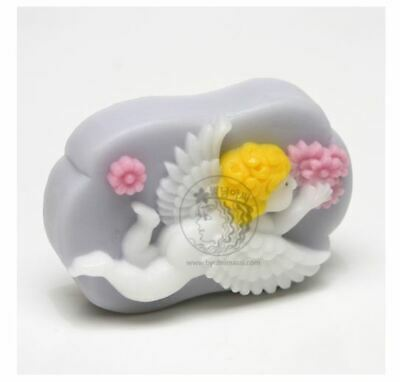 Baby Angel With Flowers Soap Mould Mold