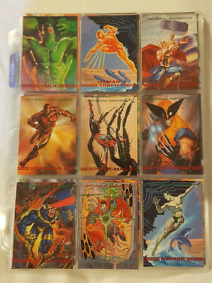 1993  Marvel Masterpieces 90 Card Base set