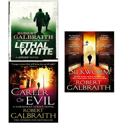 Robert Galbraith Cormoran Strike Series 3 Books Collection Set Lethal White NEW