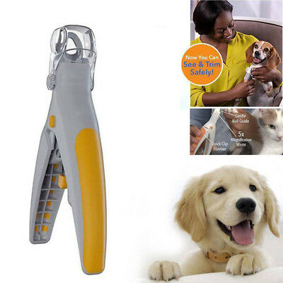 Pet Nail Trimmer Cutter Cat Dog Nails Clippers Grinders Scissors with LED Light