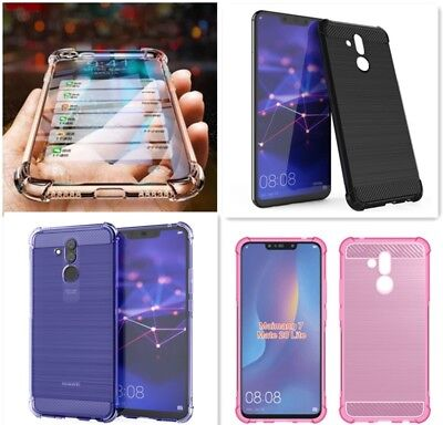 FUNDA GEL SILICONA MOVIL HUAWEI MATE 20 LITE CARCASA ANTI SHOCK CARBON FIBra