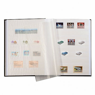 Stamp Collection Album 64 White pages Black Stock Book Album LIGHTHOUSE 322874