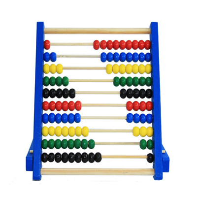Wooden Colorful Beads Abacus Counting Maths Child Kids Learning Educational Toy
