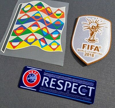 Pack Officiel UEFA Nations League Patch Equipe de France Vainqueur Coupe monde