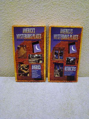 Lot of Two 1995 America's Mysterious Places Ancient America & Historic Sites VHS