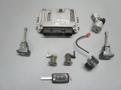 Peugeot 207 cc (WD_) 1.6 Hdi Engine Control Unit 9662213180 Lock Cylinder Set