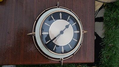 VINTAGE RETRO SUNBURST  METAMEC WALL CLOCK  1970s , 11 INCHES   ENGLAND