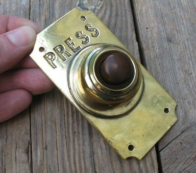 Vintage Reclaimed Brass Door Bell Push Button