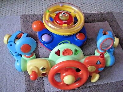 Job lot of Baby/Toddler Toys Battery Operated - Interactive Driving Wheels