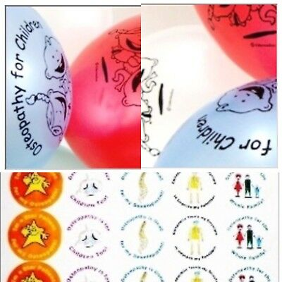 X32 Osteopathic printed balloons & X70 stickers