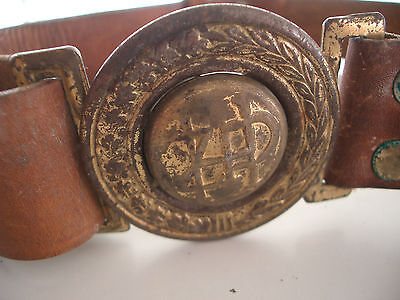 Polish Scout Leather Belt – Zhp -  Rare