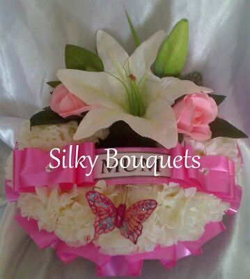 Mothers Day Artificial Silk Flower Wreath Ring Funeral Tribute Memorial