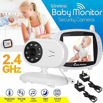 2.4 GHz 3.5 inch Wireless HD Video Baby Monitor Night Vision Camera Temperature