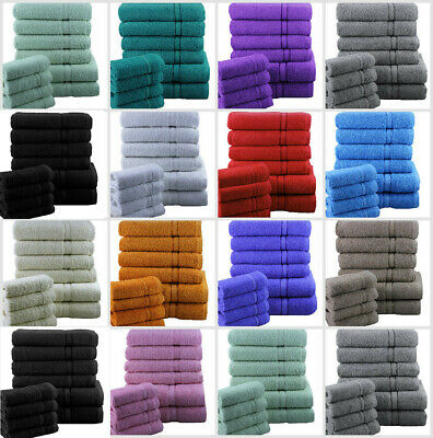 Luxury 10 Pieces Towel Bale Set 100% Pure Egyptian Cotton 550 Gsm