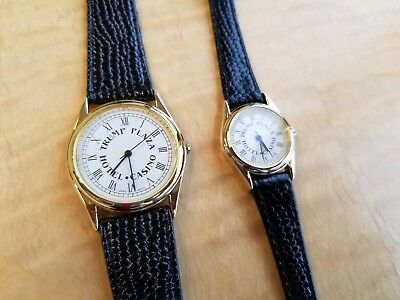 TRUMP PLAZA CASINO Signature His & Hers Watches - 1980s Vintage - New In Box