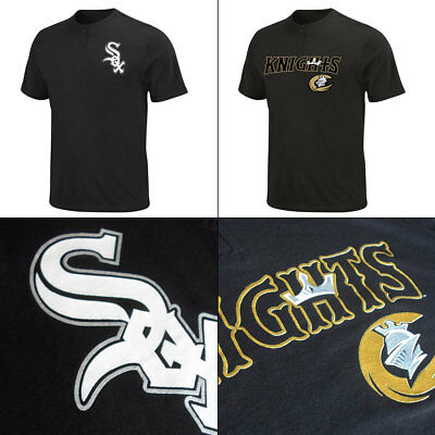 Chicago White Sox and Affiliate Charlotte Knights Adult MiLB 2 Button T Shirts