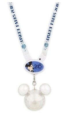 NEW Disney Parks Mickey Icon Light Up Glow Necklace Crystal Mickey 2018 Lanyard