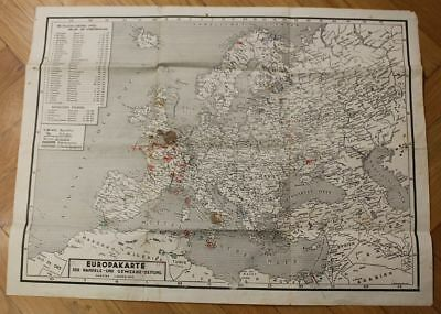orig. RARE WW2 GERMAN MAP OF EUROP SEE IT NICE FOR DECORATION