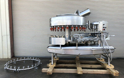 Federal 26 Valve Bottle Filler with 6 Head Screw Capper, Dairy Filling Machinery