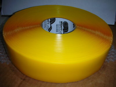 MIGHTY LINE 2RY Deluxe YELLOW Vinyl Safety Floor Marking Tape 2 In W 100 ft NOS!