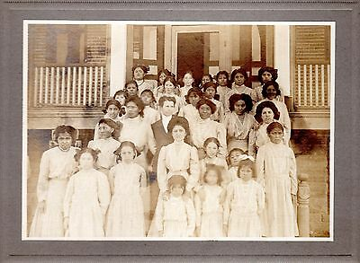 c.1900 AMERICAN INDIAN BOARDING SCHOOL~ FORCED SEPARATION OF NATIVE CHILDREN