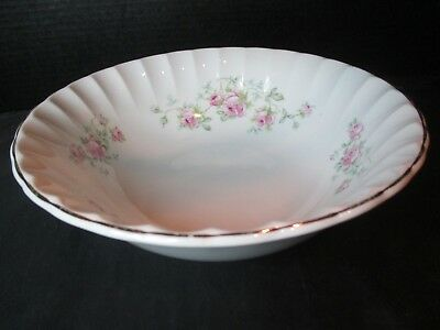 "W.S. George Bolero B8949-4 Large Round Serving Bowl Roses 9 18"" Across"