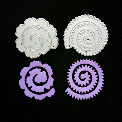 2pcs Flowers Metal Cutting Dies Stencil For DIY Scrapbooking Album Cards Decor F