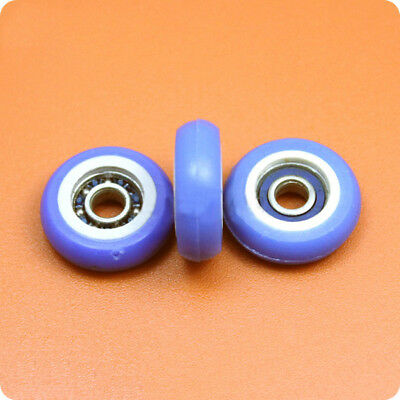 1Pcs R Type Rubber Plastic Pulley Window Door Bearings With Embed 695 5*21.5*7mm