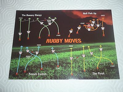 Rugby Moves Postcard. Australian Rugby World Cup 2003 Memoribilia
