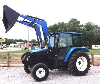 2002 New Holland TL 90 with Loader and Bucket--- Ships @ $1.85 per loaded mile.