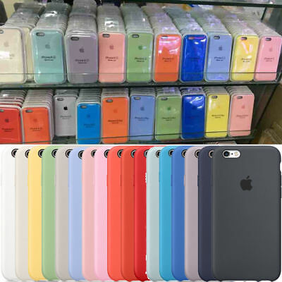 brand new 1d861 9115b ORIGINAL SILICONE/LEATHER CASE For iPhone X XS Max 6 7 8 Plus Genuine OEM  Cover