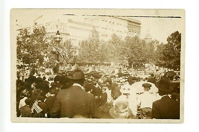 RPPC Watching WWI Victory Parade in Washington, DC