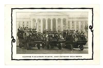 Detroit Teachers in Touring Cars at US Treasury Washington, DC c 1910