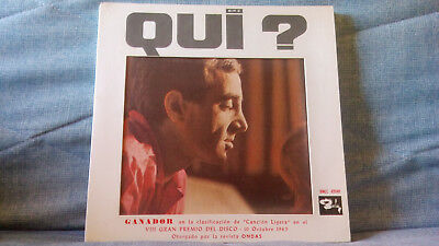 Charles Aznavour - Qui? (Quien?) Very Rare Spain Press Inner Bootleg  Year 1963