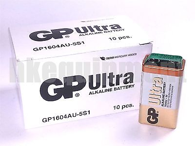 GP 9v Ultra PP3 6F22 6LR61 MN1604 9 V Block Heavy Duty Cell Alkaline Battery x10
